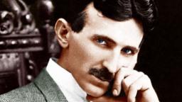 Crazy scientist Nikola Tesla picture